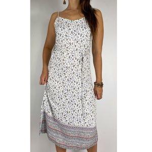 JAY JAYS White Floral Paisley Boho Dress Sz 12